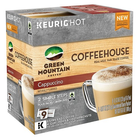 Green Mountain Coffee Cappuccino Dark Roast Coffee - Keurig K-Cup Pods - 9ct - image 1 of 1