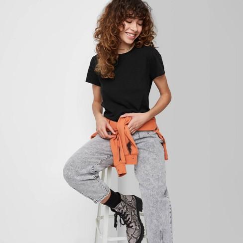 Women's Short Sleeve Shrunken Boxy T-Shirt - Wild Fable™ - image 1 of 3