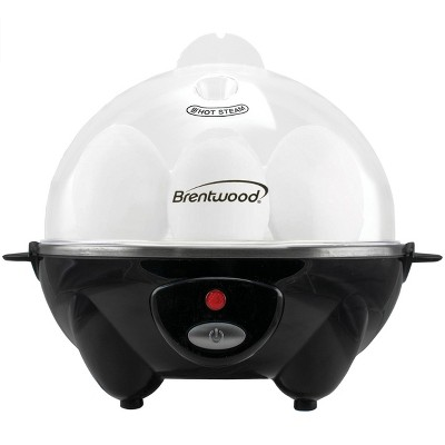 Brentwood Electric 7 Egg Cooker with Auto Shut Off in Black