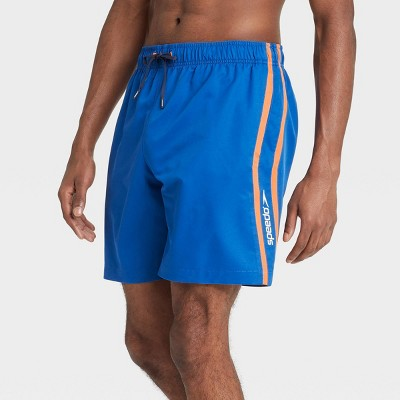 "Speedo Men's 8"" Striped Swim Trunks - Blue"