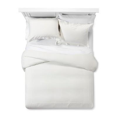 Cream Tencel Duvet Cover Set (King)- Fieldcrest®