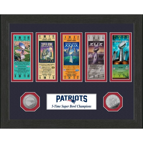 NFL New England Patriots 5-Time Super Bowl Champions Ticket Collection - image 1 of 1