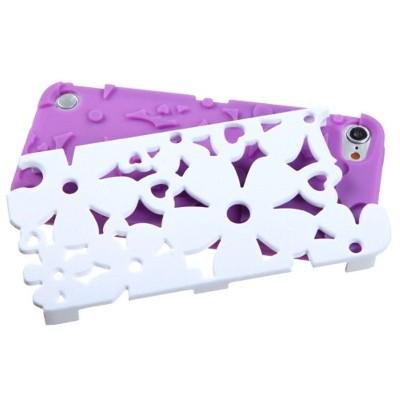 MYBAT For Apple iPod Touch 5th Gen/6th Gen Purple White Flowerpower Hard Hybrid Case