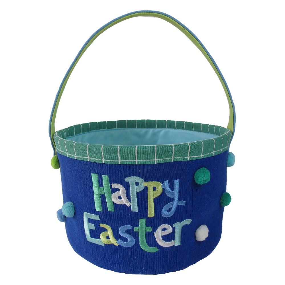 Easter Navy (Blue) Canvas Basket