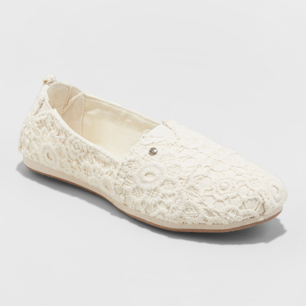 Women's Mad Love Lydia Wide Width Slip On Canvas Sneakers - Beige 5W, Size: 5 Wide