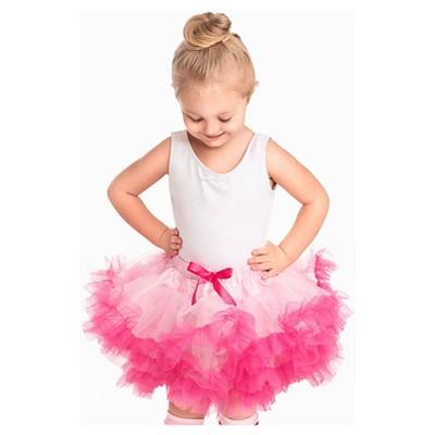 Little Adventures Girls' Fluffy Tutu - Pink/Hot Pink