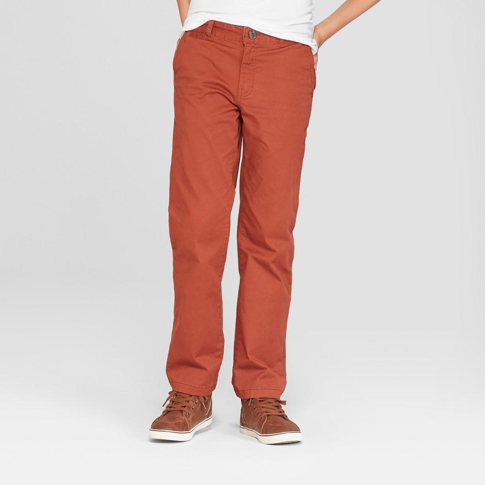 Boys' Chino Pants - Cat & Jack Dark Brown 8 Slim