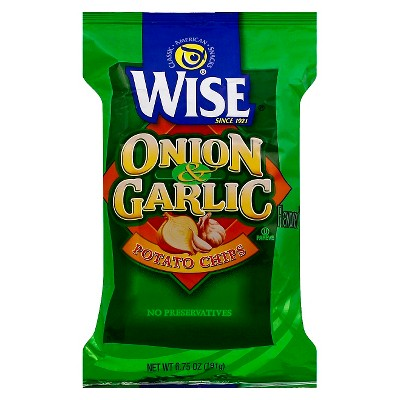 Wise Onion & Garlic Potato Chips - 6.75oz