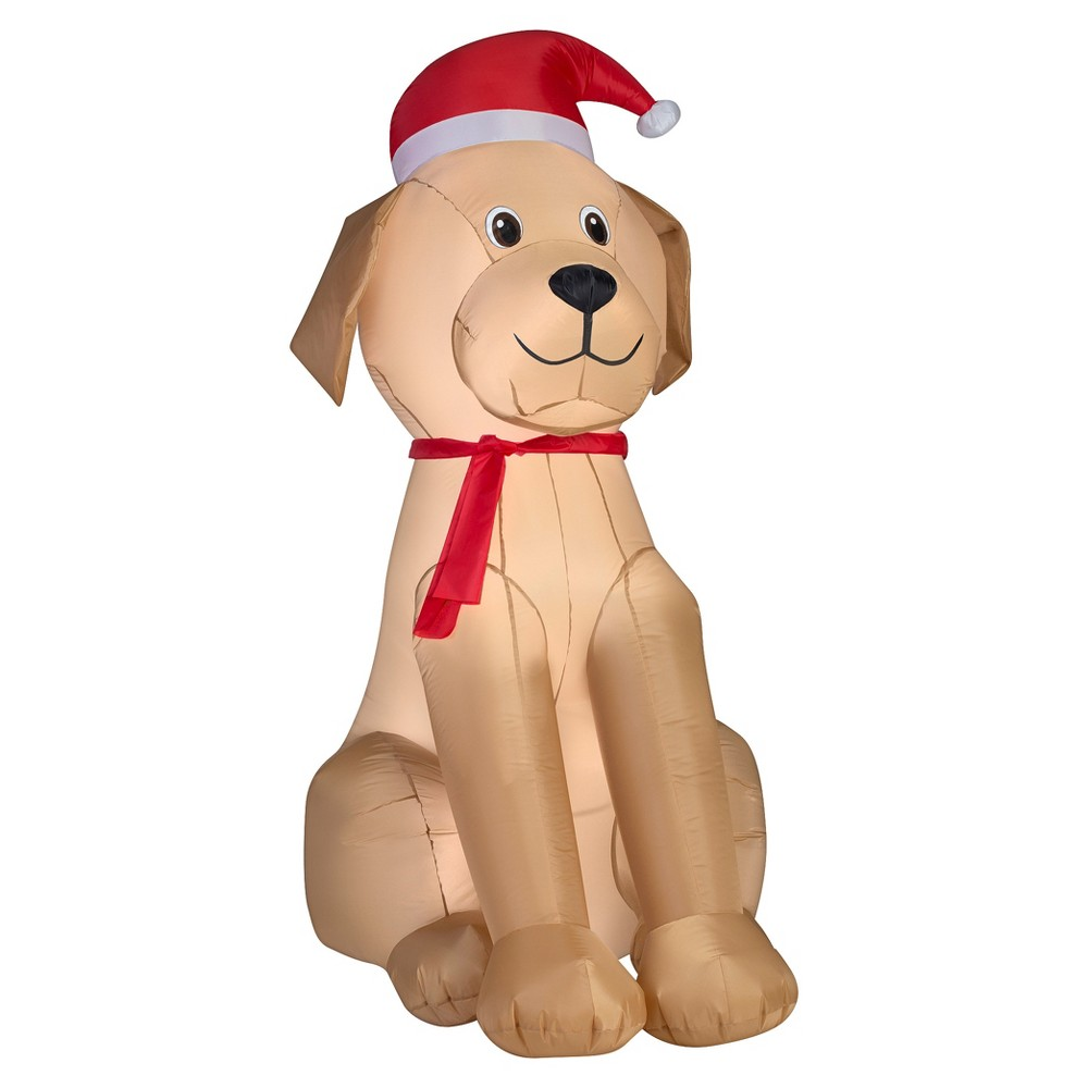 Holiday Inflatable Decoration Golden Retriever, Multi-Colored