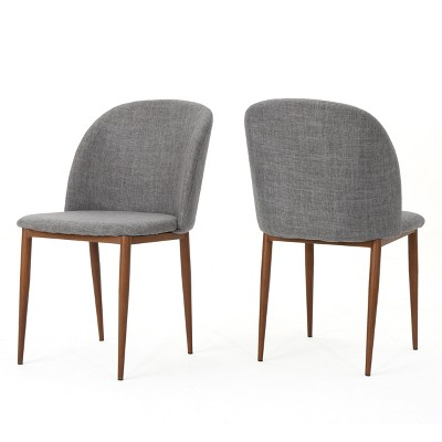 Set Of 2 Anastasia Dining Chair Light Gray - Christopher Knight Home : Target