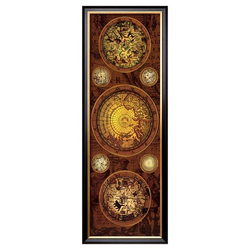 Art.com - Antique Map, Orbis Geographica I - Framed Print - image 1 of 2