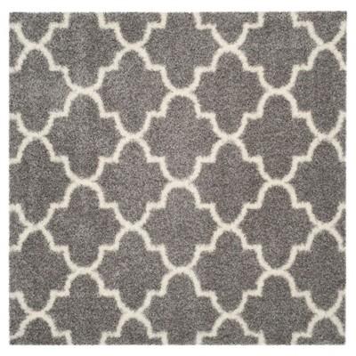 Montreal Shag Rug - Gray/Ivory - (6'7 X6'7  Square)- Safavieh®