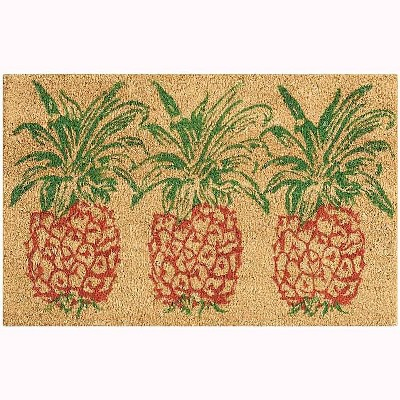 "Waverly Greetings ""Pineapple"" Aqua Doormat : Target"