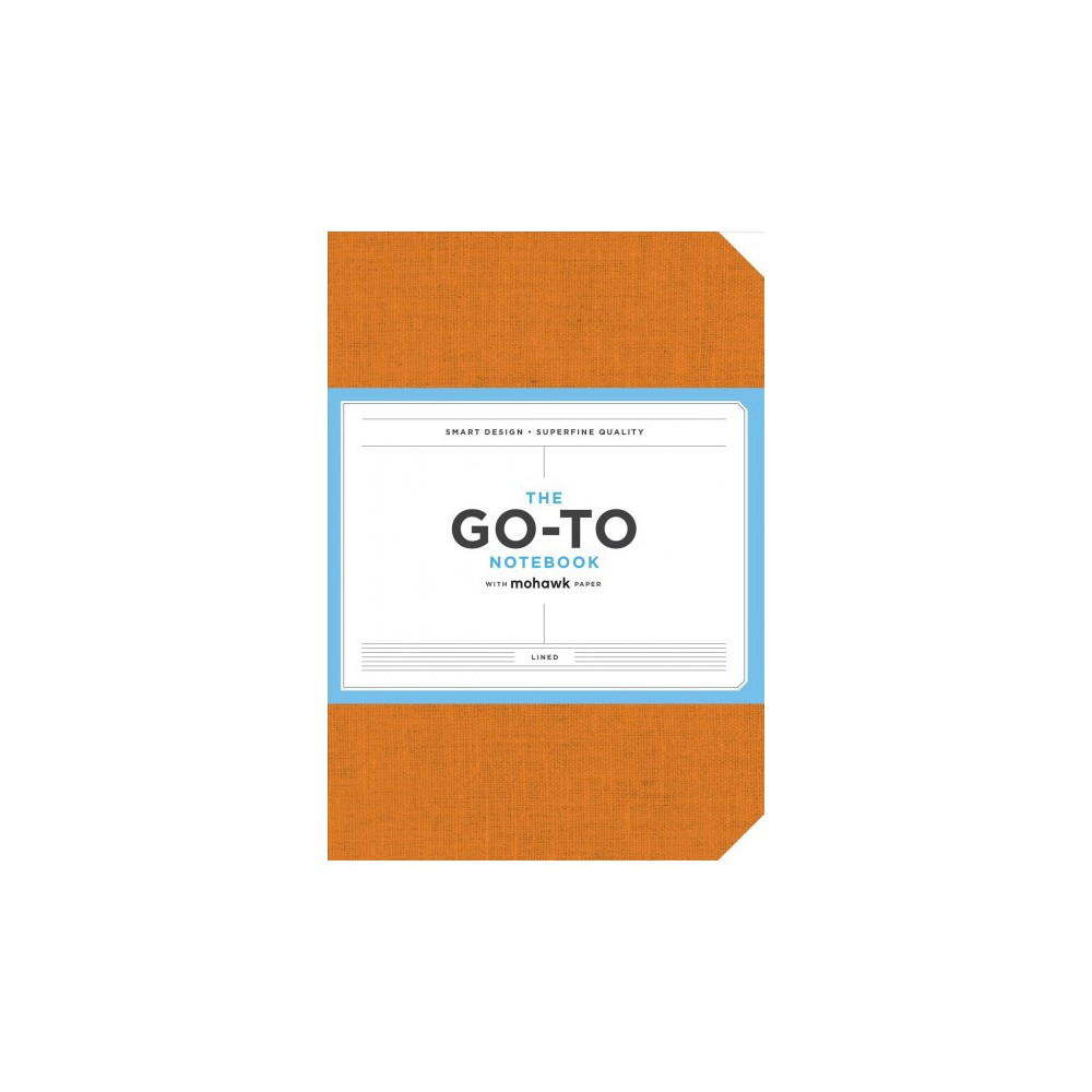 Go-to Notebook With Mohawk Paper, Persimmon Orange Lined - (Paperback)