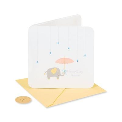 Raindrops Umbrella and Elephant Card - PAPYRUS