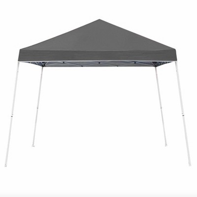 Z-Shade 10 x 10 Foot Angled Leg Instant Shade Outdoor Canopy Tent Portable Gazebo Shelter for Camping or Backyard Grilling, Grey