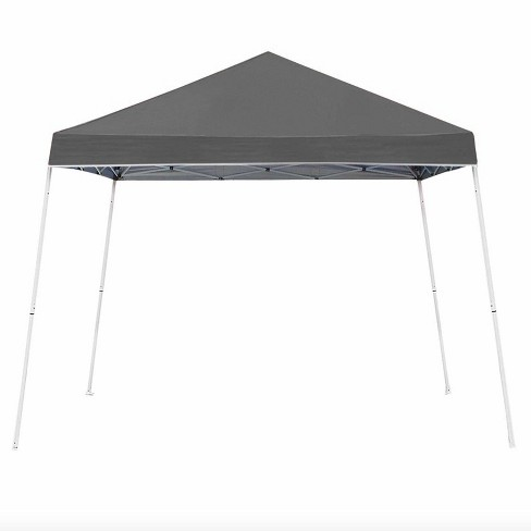 Z-Shade 10 x 10 Foot Angled Leg Instant Shade Outdoor Canopy Tent Portable Gazebo Shelter for Camping or Backyard Grilling, Grey - image 1 of 3