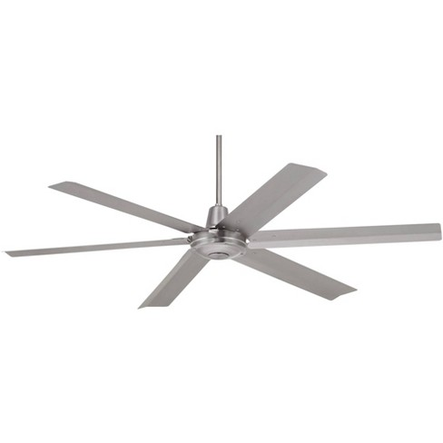 60 Casa Vieja Modern Industrial Indoor Outdoor Ceiling Fan With Remote Brushed Steel Damp Rated For Patio Porch Target