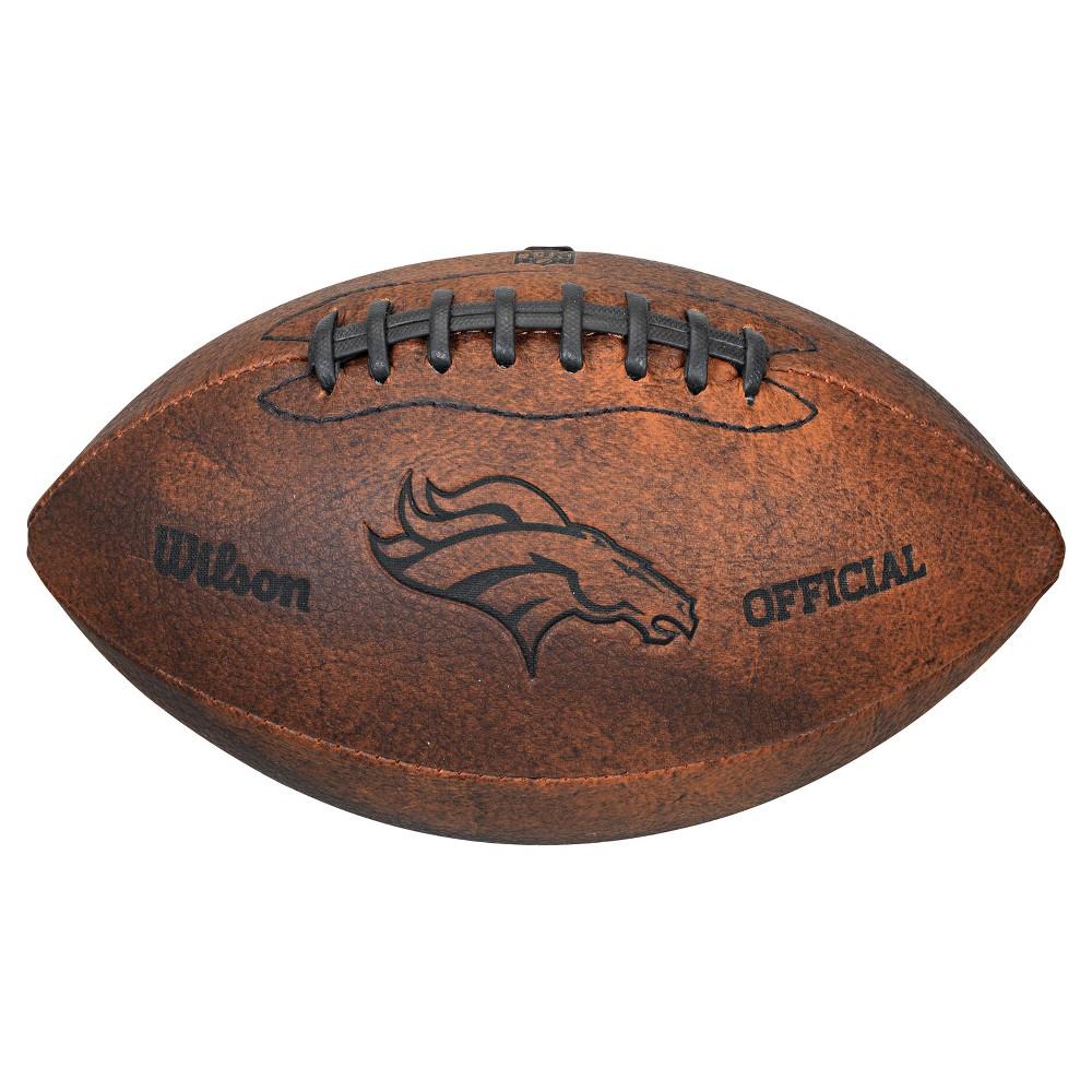 Denver Broncos Wilson 9 Inch Throwback Football