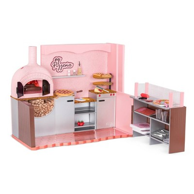 """Our Generation Easy Cheesy Pizzeria Restaurant Accessory Playset for 18"""" Dolls"""
