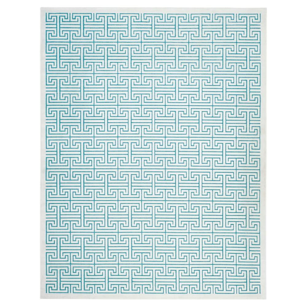 Adrianne Area Rug - Ivory / Turquoise (8' X 10') - Safavieh