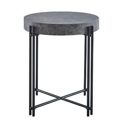Morgan Round End Table Gray - Steve Silver Co.
