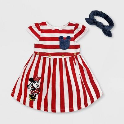 Toddler Girls' Disney Minnie Mouse Dress Set - Red - Disney Store