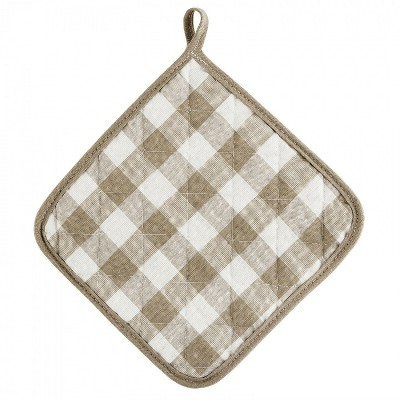 Kate Aurora 2 Pack Gingham Plaid Checkered Country Farmhouse Pot Holders
