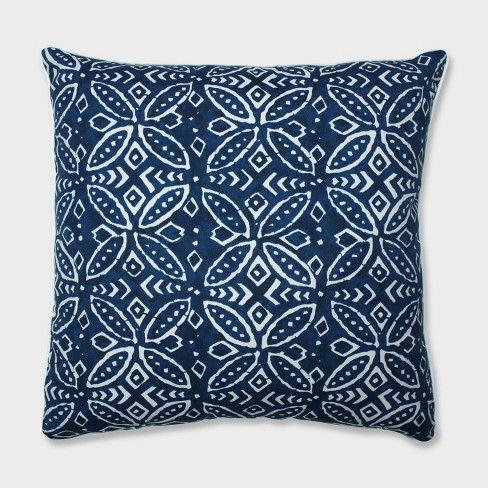 "25"" Merida Indigo Floor Pillow Blue - Pillow Perfect - image 1 of 3"