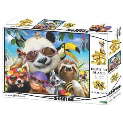 The Zoofy Group LLC Howard Robinson Wild Beach Party Selfie Super 3D 500 Piece Jigsaw Puzzle