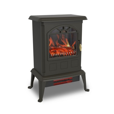 LifeSmart YH-20-2 1100 Watt Traditional Electric Infrared Heater Stove, Black