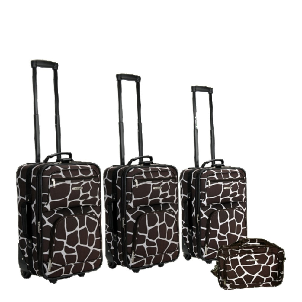 Rockland 4pc Expandable Luggage Set - Giraffe