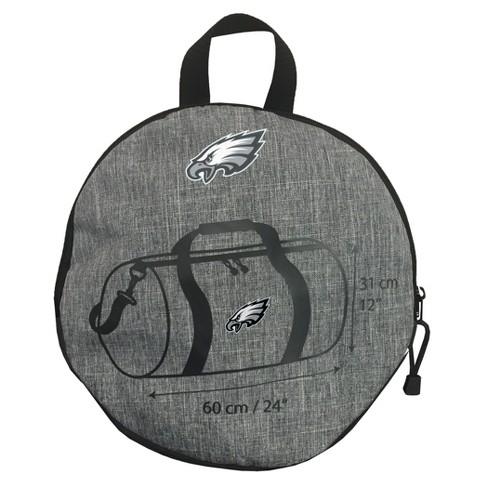 Philadelphia Eagles Wingman Gray Barrel Duffel Bag   Target a2c94c3d18