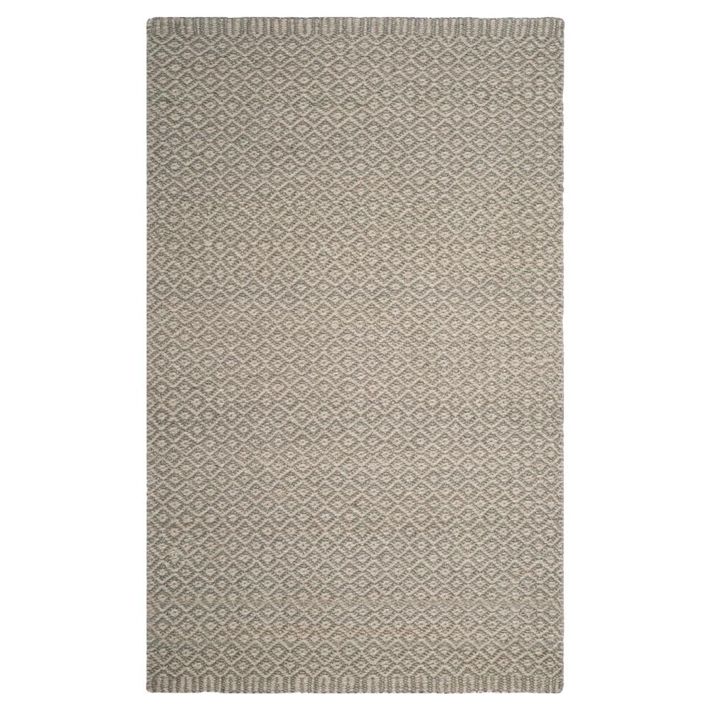 Gray Geometric Loomed Area Rug 6'X9' - Safavieh