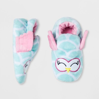 Baby Girls' Owl Bootie Slippers - Cat & Jack™ Pink 12-24M