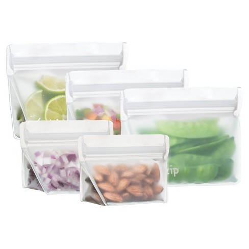 (re)zip Leak-Proof Clear Reusable Stand Up Storage Starter Kit - 5ct - image 1 of 1