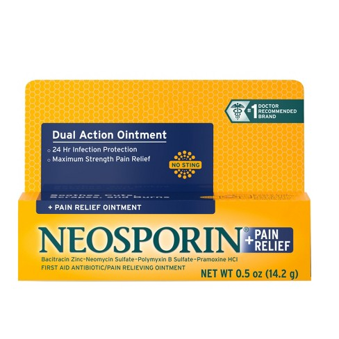 Neosporin 24 Hour Infection Protection Pain Relief Ointment - 0.5 oz - image 1 of 6