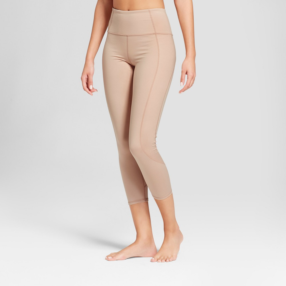Women's Comfort High-Waisted Leggings with Shine Panels - JoyLab Walnut Beige Xxl, Brown
