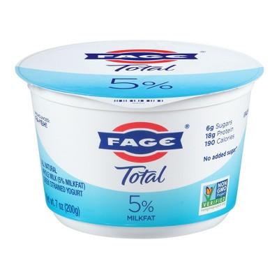FAGE Total 5% Milkfat Plain Greek Yogurt - 7oz
