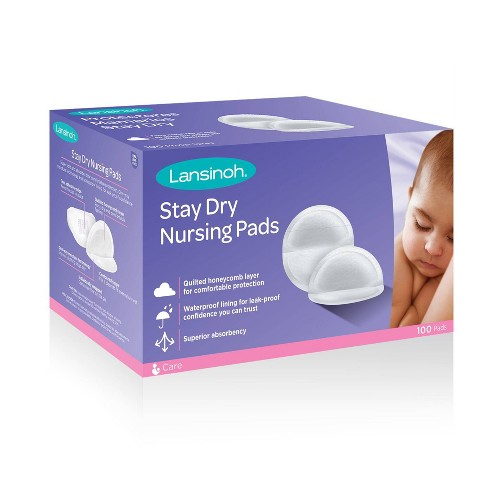 Lansinoh Disposable Nursing Pads 100ct, White
