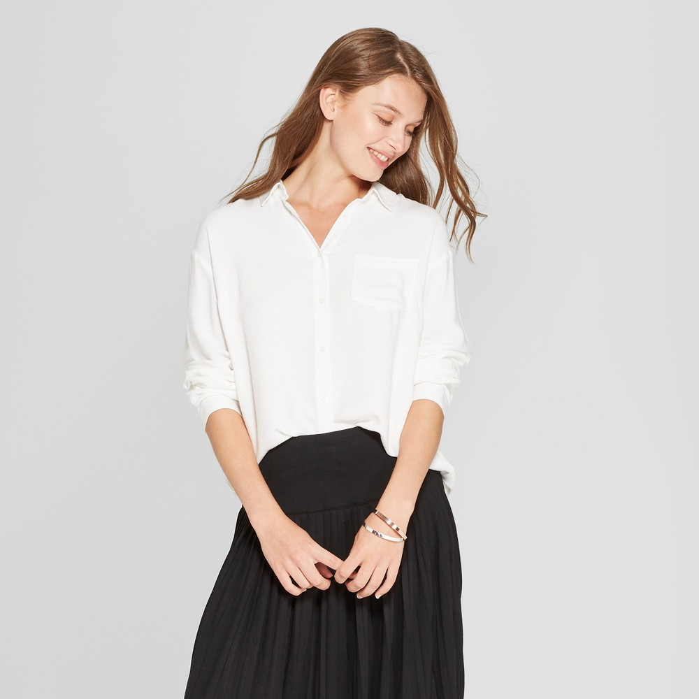 Women's Any Day Long Sleeve Tunic - A New Day White S
