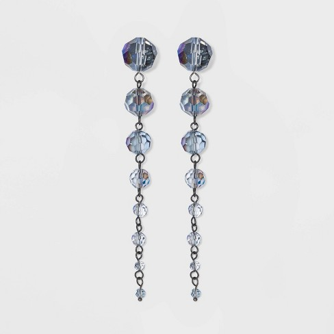 Beaded Drop Earrings - A New Day™ Blue - image 1 of 2