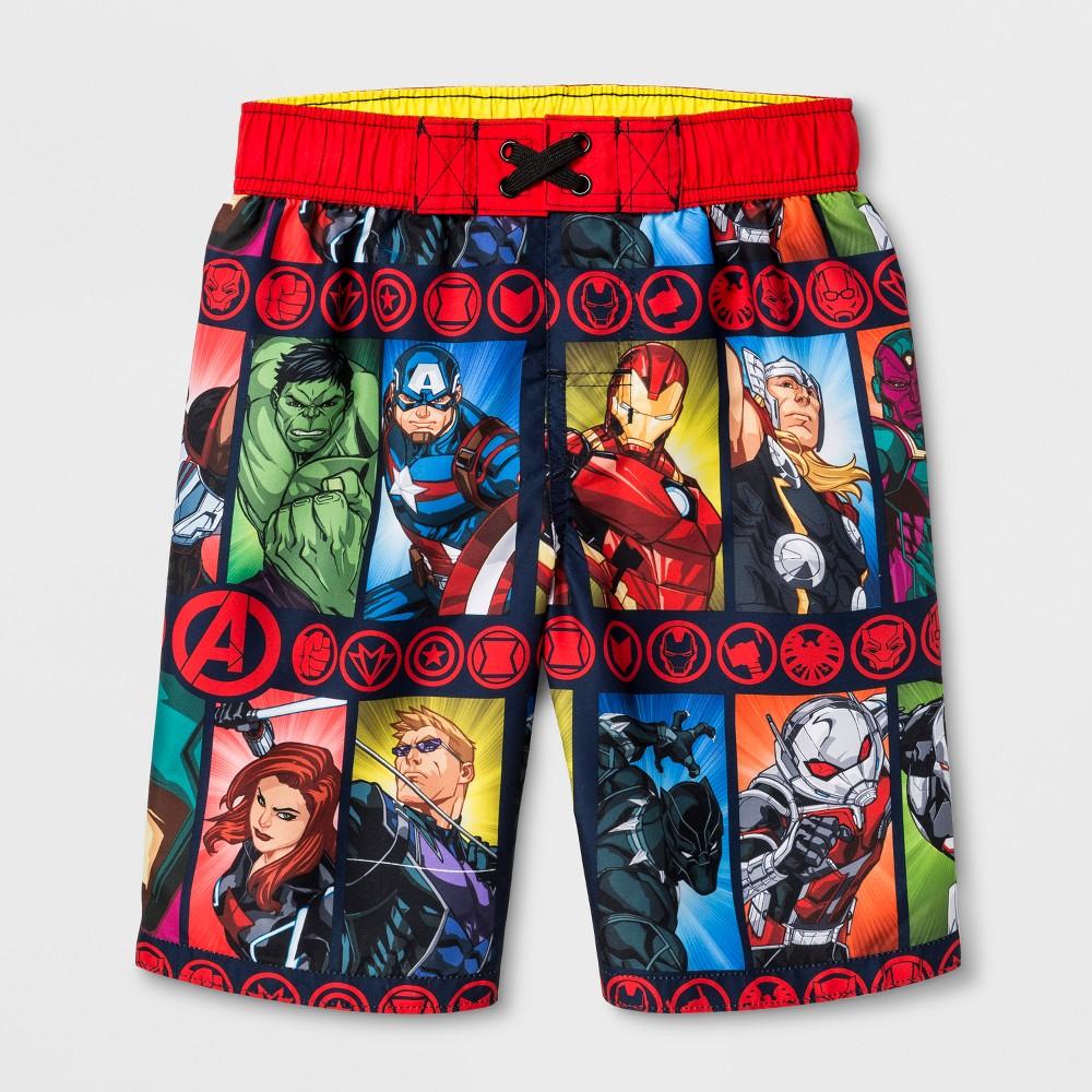 Boys' Avengers Swim Trunks - M, Black