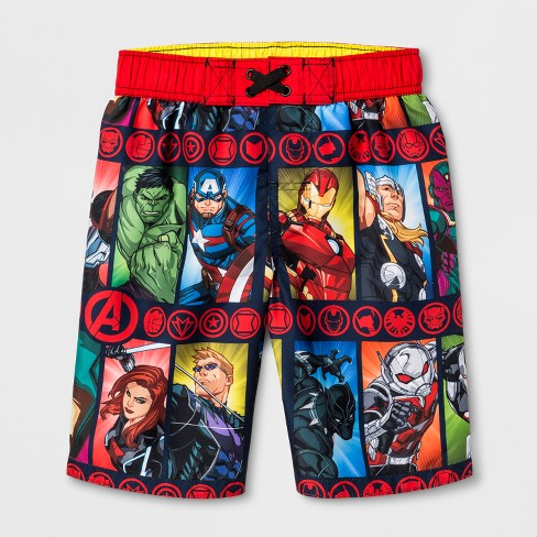 Avengers Swim ShortsBoys Marvel Avengers Swimming TrunksNEW