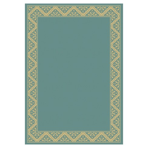 Tiffany Rectangle 8 X 10 Outdoor Patio Rug Blue Target