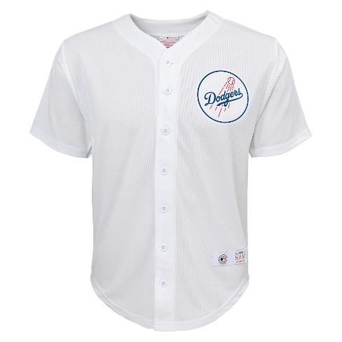Los Angeles Dodgers Boys  Yasiel Puig Jersey White S   Target 94100d62d