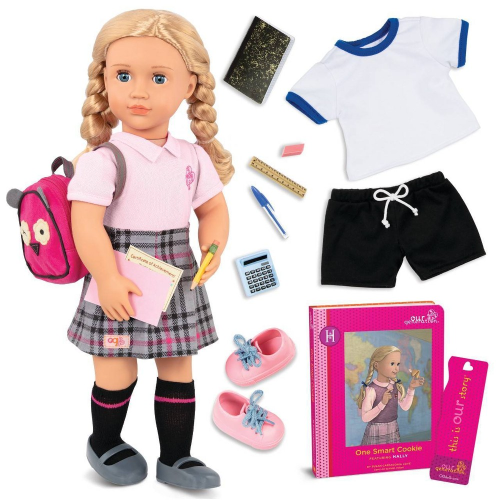 Our Generation 18 34 Posable School Doll With Storybook 38 Accessories Hally