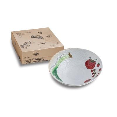 80oz Porcelain Farm To Table Leek Serving Bowl - Rosanna