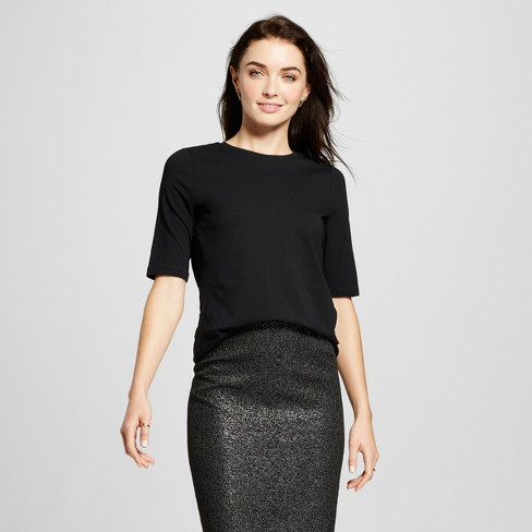 Women's  Elbow Sleeve T-Shirt - Who What Wear™ - image 1 of 3