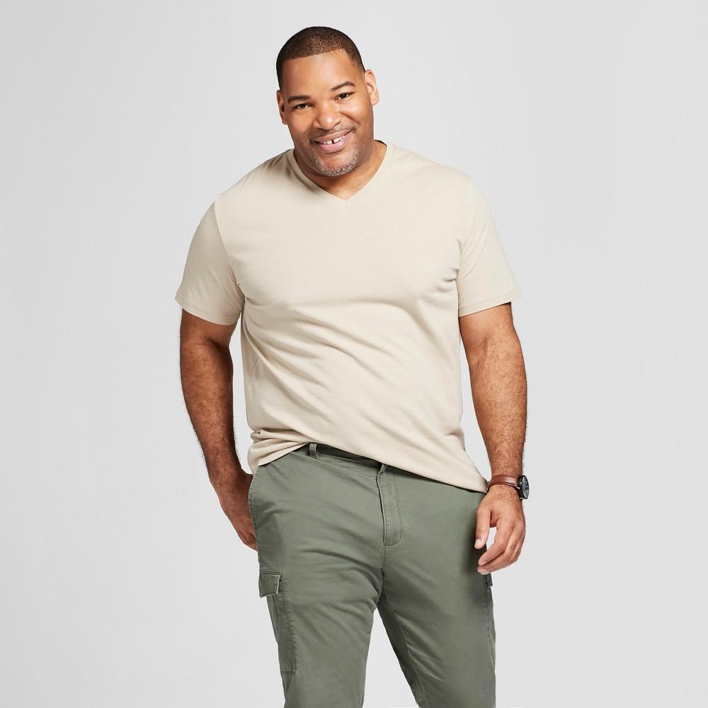 Men S Tall Standard Fit Short Sleeve V Neck T Shirt Goodfellow Co 8482 Light Taupe Lt